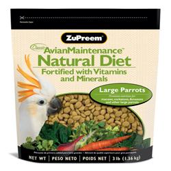 ZuPreem Natural Pelleted Bird Food for Large Birds 1ea/3 lb