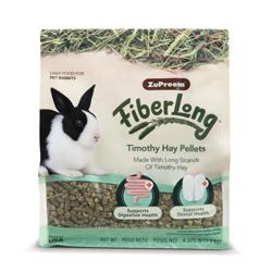 ZuPreem FiberLong Timothy Hay Pellets Rabbit Food 4.375lb