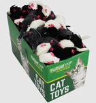 Multipet Fur Mice (Assorted Colors) 1.25inch ea.