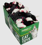 Multipet Fur Mice (Assorted Colors) 1.25Inch Ea.