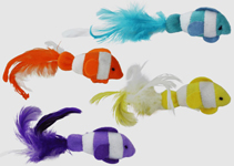 Multipet Clown Fish Cat Toys With Catnip 2pk