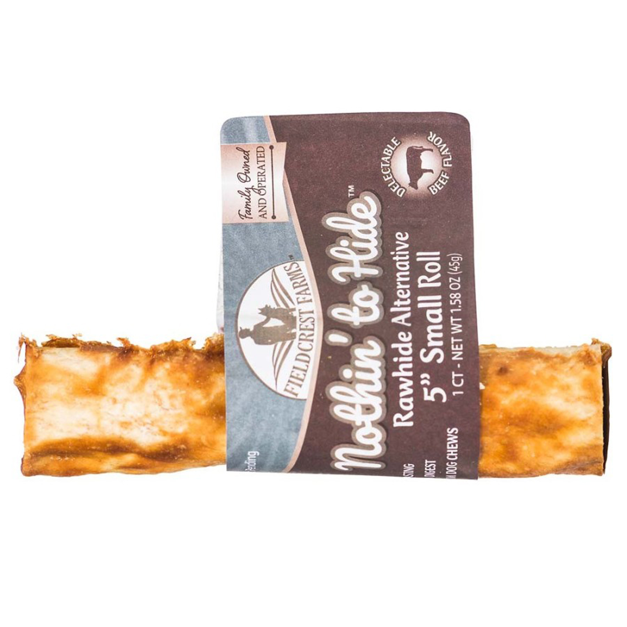Fieldcrest Farms Nothin To Hide Roll Dog Treat Beef Small