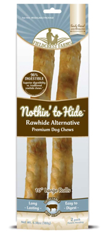 Fieldcrest Farms Nothin to Hide Roll Dog Treat Beef Large 2pk