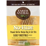 Earth Animal NO Hide Chews Peanut Butter Stix 10Pack