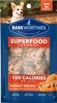 Barkworthies Turkey Jerky Recipe w/Pumpkin, Sweet Potato & Carrot Blend 100 Calorie Pack (Mini Case)