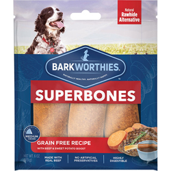 Barkworthies SuperBone Grain Free with Beef & Sweet Potato   (3-Pack SURP)