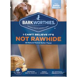 Barkworthies Dog Not Rawhide Rolls Peanut Butter Large 2 Pack