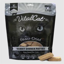 Vital Essentials Cat Freeze-Dried Patties Rabbit 8Oz