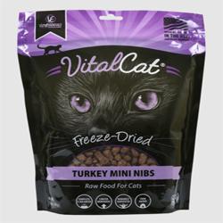Vital Essentials Cat Freeze-Dried Mini Nibs Turkey 12Oz