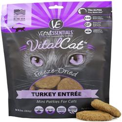 Vital Essentials Cat Freeze-Dried Patties Turkey 8Oz