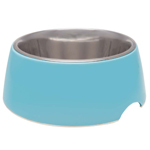 Loving Pets Retro Bowl Electric Blue 1ea/Small