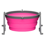 Loving Pets Travel Dog Bowl Pink 1ea/Medium
