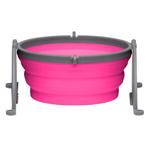 Loving Pets Travel Dog Bowl Pink 1ea/Large