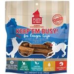Plato Dog Keep 'Em Busy Duck & Blueberry Treats Large 5Oz