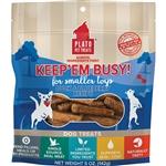 Plato Dog Keep 'Em Busy Duck & Blueberry Treats Small 5Oz