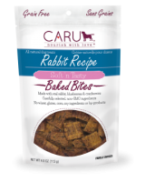 Caru  Dog Natural  Rabbit Treats Bites 4oz.
