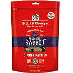 TELLA & CHEWY'S DOG FREEZE-DRIED DINNER PATTIES RABBIT 25OZ