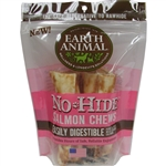 "Earth Animal No Hide Salmon Chews Dog Treats, 7"" 2Pack"