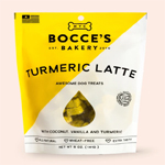 Bocces Bakery Dog Biscuits Tumeric Latte 5oz.