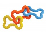 Petstages Bone Tug Toy Multi-Color 1ea/Mini