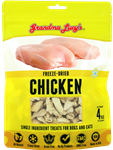 Grandma Lucys Dog Freeze Dried  Chicken Treat  4 oz..