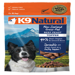 K9 Natural  Dog Freeze Dried Topper Beef 5 Oz.