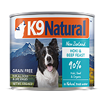 K9 Natural  Dog Beef Hoki 13 Oz.(Case Of: 12)