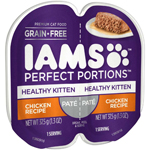 IAMS PERFECT PORTIONS Pate Healthy Kitten Chicken Recipe Wet Cat Food Tray 2.6oz