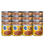 PEDIGREE Chopped Ground Dinner Chicken, Beef & Liver Canned Dog Food 13.2oz/12pk