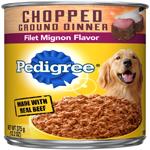 PEDIGREE Chopped Ground Dinner Filet Mignon canned Dog Food 12ea/13.2oz