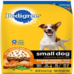 PEDIGREE Roasted Chicken, Rice & Vegetable Small Dog Dry Food 15.9lbs