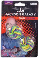 Jackson Galaxy Puma Paw Catnip Toy Purple, Green, Yellow 1ea/One Size, 2 pk