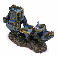 Penn-Plax Pirate Treasure Ship Small