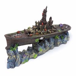 Penn-Plax Battleship Ornament Small