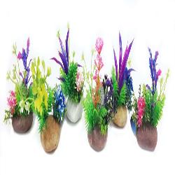 Penn-Plax Rock Plants Assorted Styles 6pc/6in