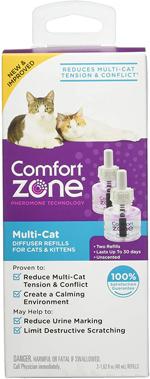 Comfort Zone Multicat Calming Diffuser Refill, 48 ml-2 Pack, 60 Day Use 1ea/2 pk