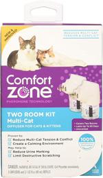 Comfort Zone Diffuser Kit for Cat Calming   MultiCat Calming Formula 1ea/Two pk Diffuser Kit
