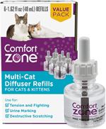 Comfort Zone Multicat Calming Diffuser Refill, 48 ml- 1 Refill, 30 day use 1ea/1 Refill