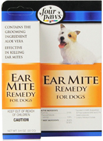 Four Paws Aloe Ear Mite Treatment for Dogs 1ea/3/4 oz