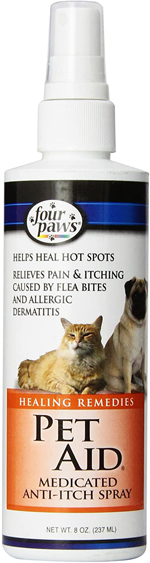 Four Paws Pet Aid Healing Remedies, Medicated Pet Anti Itch Spray 1ea