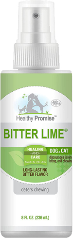 Four Paws Healthy Promise Bitter Lime Anti Chew Spray for Dogs and Cats Bitter Lime Flavor 1ea/8 oz