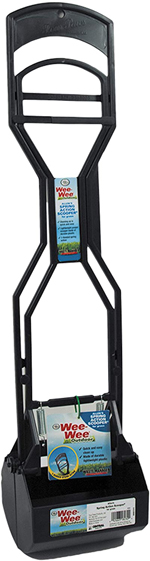 Four Paws Allen's Spring Action Dog Scooper For Hard Surfaces Hard Surfaces Black 1ea/5.13 in X 5.5 in X 24.75 in