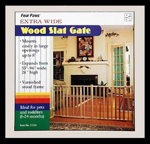 Four Paws Extra Wide Epandable Vertical Wood Slat Dog Gate 1ea/51-93 in W X 24 in H