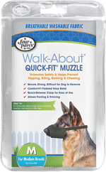 Four Paws Quick Fit Dog Muzzle 1ea/3-Medium