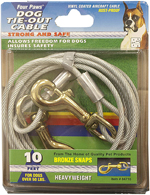 Four Paws Heavy Weight Tie Out Cable Silver 1ea/10 ft