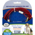 Four Paws Medium Weight Dog Tie Out Cable 1ea/10 ft