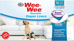 Four Paws Wee-Wee Super Absorbent Disposable Dog Diaper Liners 10 Count 1ea/One Size