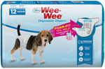 Four Paws Wee-Wee Disposable Dog Diapers 12 Count 1ea/Medium