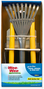 Four Paws Wee-Wee All-in-One Dog Poop Rake, Spade and Pan Set 1ea/Small, 7 in X 7 in X 38 in