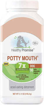 Four Paws Healthy Promise Potty Mouth Tablets - Coprophagia Stool Eating Deterrent for Dogs 90 Count 1ea/5.14 oz